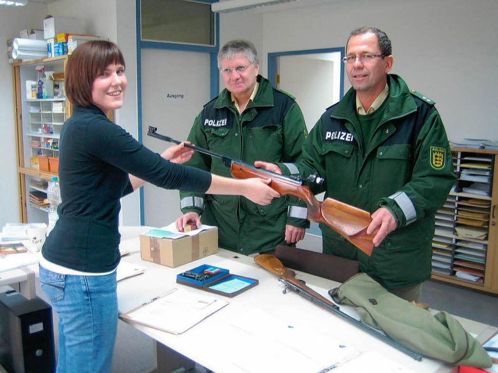 1111. Waffe, die in Offenburg im Rahmen der Amnestie abgegeben wurde. Eine Druckluftgewehr, frei erwerbbar ab 18... Foto: Landratsamt Offenburg