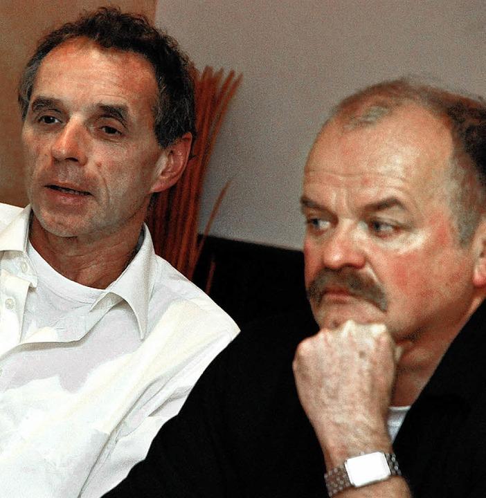 Haben schlechte Erfahrung mit der Offe...Schandl (links) und Reinhard  Kirpes.   | Foto: GES