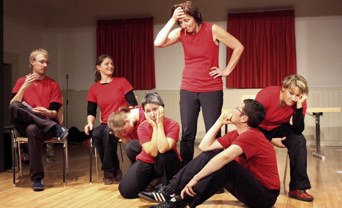 Jugendvorstellung des Improvisationstheaters Impro Con Carne  in Ehrenstetten.     Foto: Barbara Schmidt
