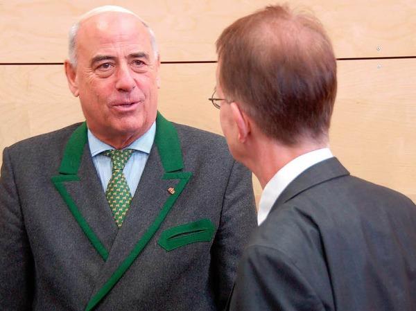 MdL Fleischer (links), Bad Krozingens Bürgermeister Ekkehart Meroth