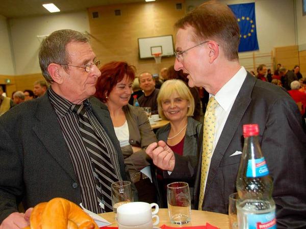Neujahrsempfang der Gemeinde Hartheim in der Rheinhalle.