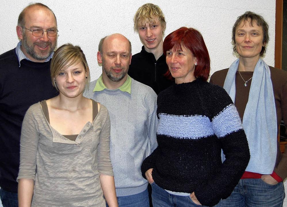 Vorstand der Leichtathleten (von links...ander, Susi Hein und Sabine Rütschlin.    Foto: Valentin Ade