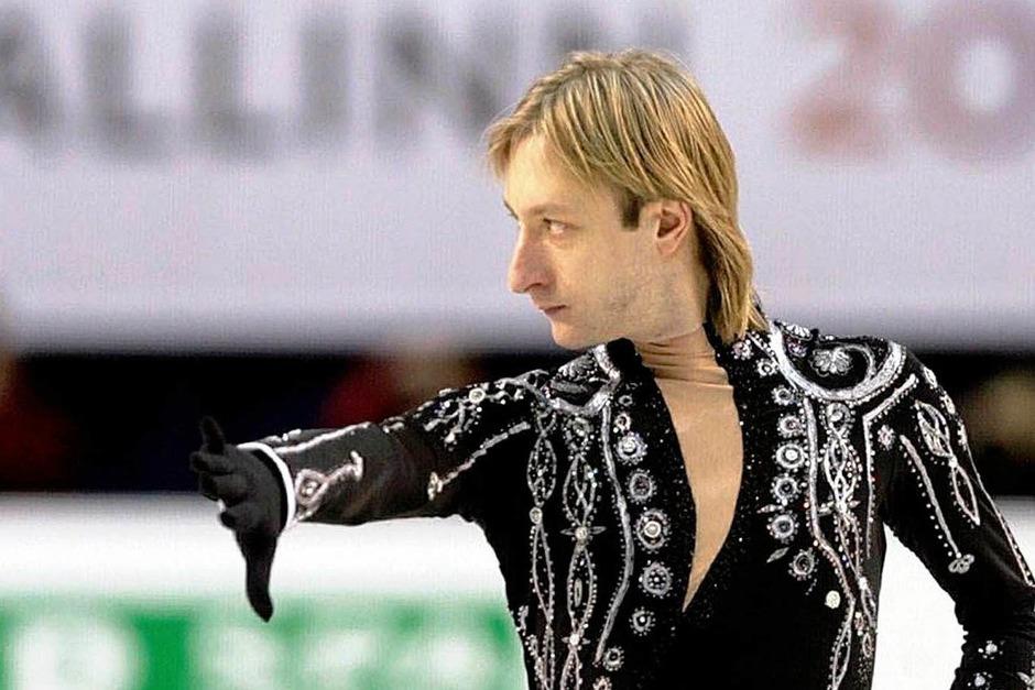 Einer der Stars bei dieser Europameisterschaft ist Evgeni Plushenko aus Russland. (Foto: dpa)