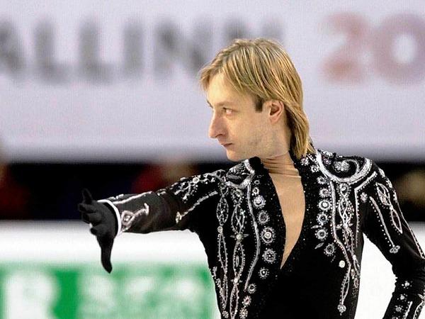 Einer der Stars bei dieser Europameisterschaft ist Evgeni Plushenko aus Russland.