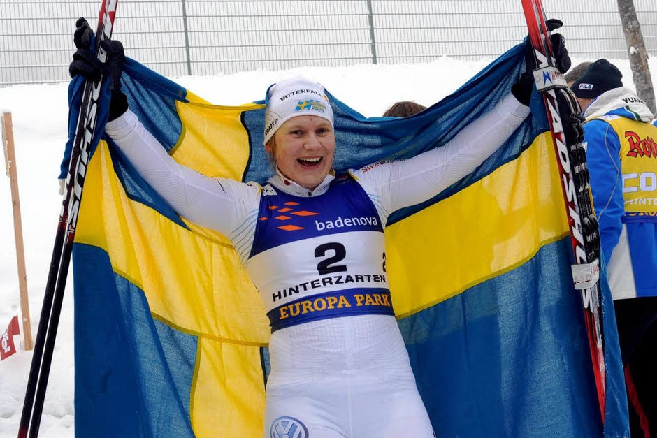 Im Langlauf-Sprint über 1,3 Kilometer wurde die Schwedin Hanna Brodin am Montag ihrer Favoritenrolle gerecht.