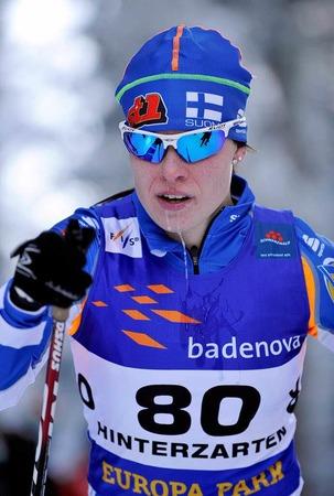 Goldmedaillengewinnerin Krista Lahteemaki