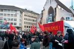 Basel: Demonstration gegen das WWF in Davos