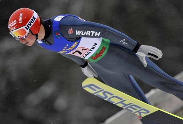 Felix Schoft in der Luft