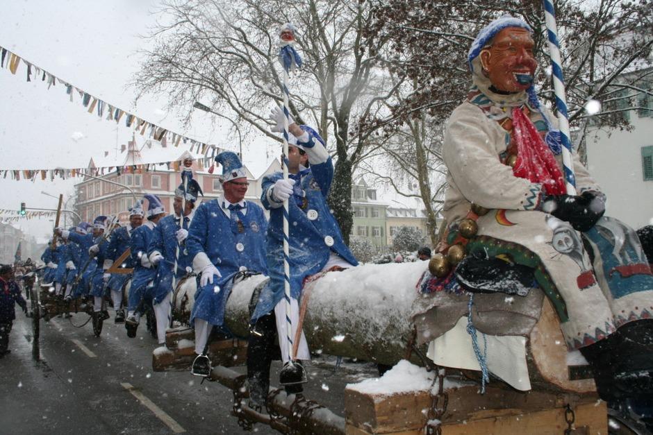 Bestens präsentierten sich die Bonndorfer Narren in Singen. (Foto: Uli Spielberger)