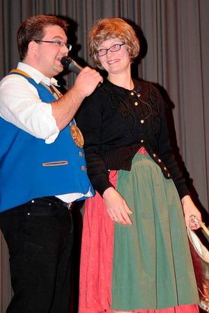 Sabine Stritt und Moderator Mario Tröndle