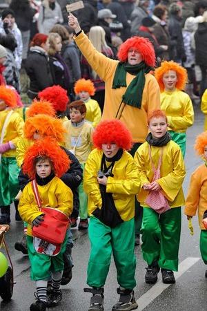 Die Kinder des M�llheimer Turnvereins  machen traditionell beim Fasnachtsumzug mit.