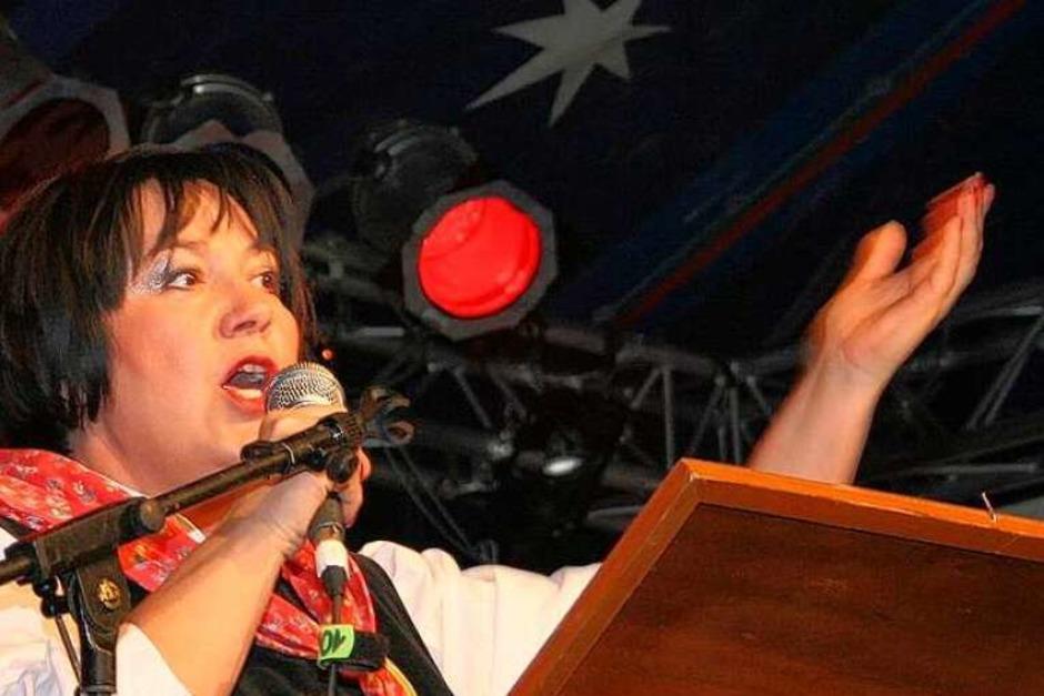 Susanne Hänßel glänzte in der Bütt. (Foto: Friederike Marx)