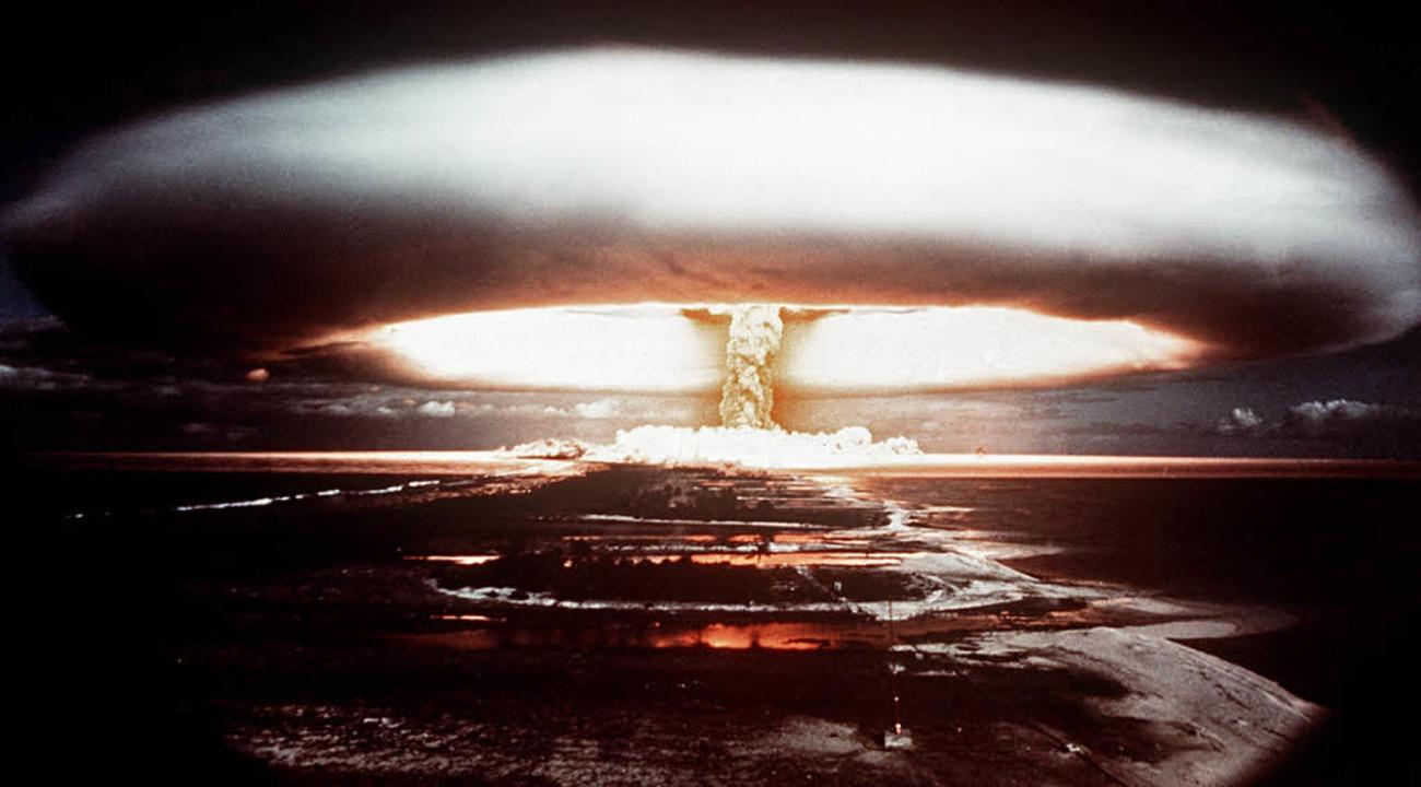 Französischer Atomtest im Jahr 1971  | Foto: AFP