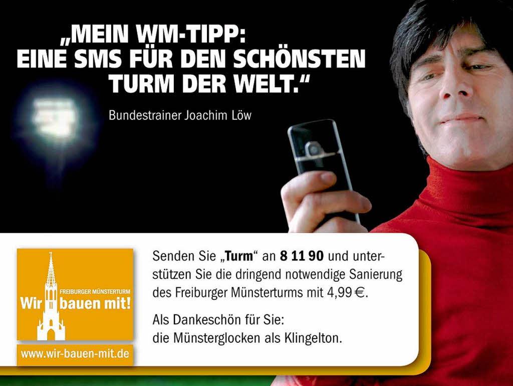 Sms und eine spende für den freiburger münsterturm foto privat