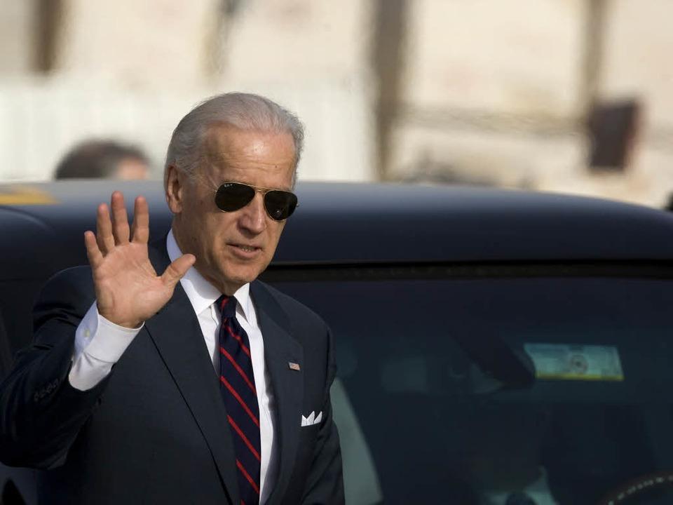 US-Vizepräsident Joe Biden bei seinem Besuch im Nahen Osten.    Foto: AFP