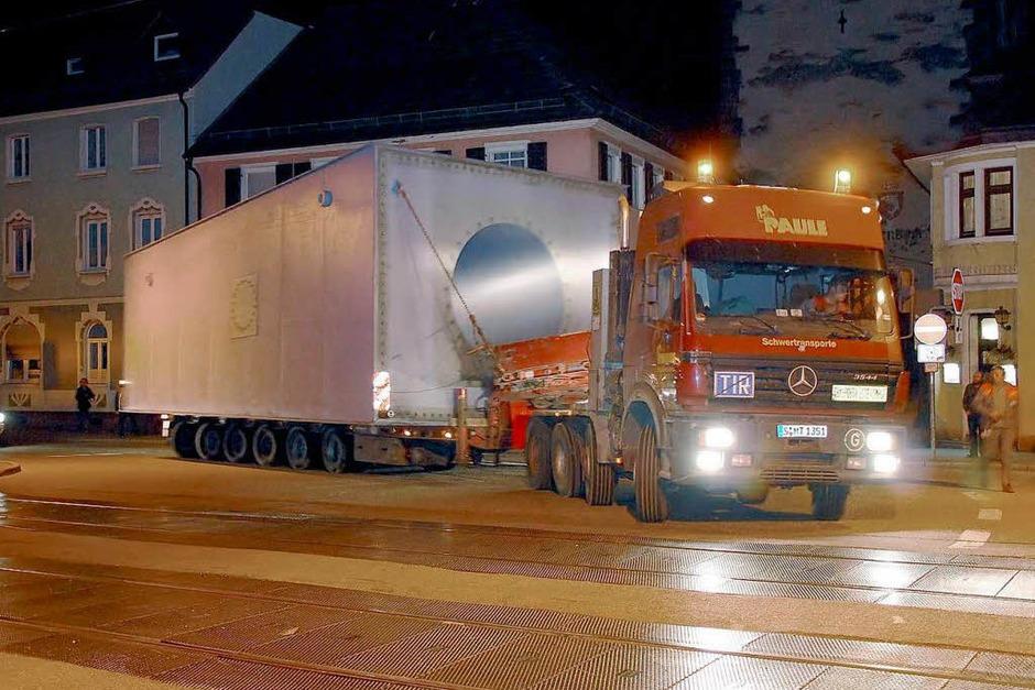 Der Schwertransport nach Gengenbach. (Foto: E-Werk Mittelbaden)