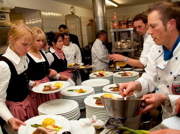 Perfekt: In der Küche saß jeder Handgriff, der Zeitplan stimmte auf die Sekunde