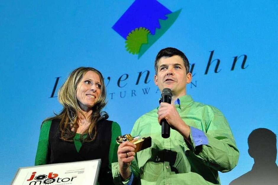 1.Preis  Kat. 1 Biomarkt Löwenzahn GmbH, Müllheim.  Angela und Ulrich Zimmermann (Foto: Thomas Kunz)