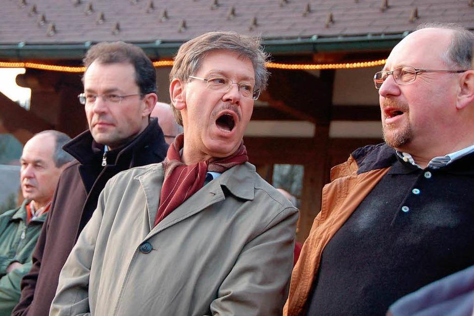 Auch Schwaben sangen aus voller Brust das Badnerlied mit. (Foto: Kathrin Blum)
