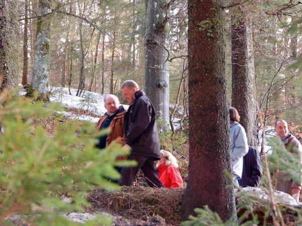 Unterwegs im frostigen Forst