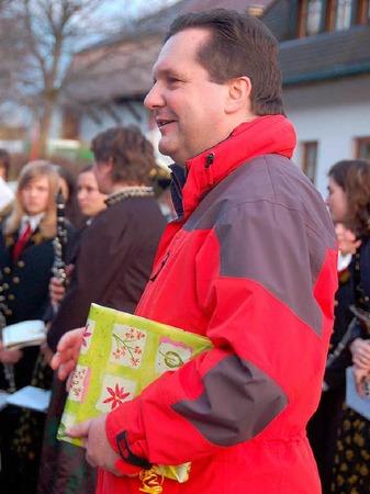 Wurde sowohl in H�usern als auch in St. Blasien beschenkt: Der Ministerpr�sident Stefan Mappus