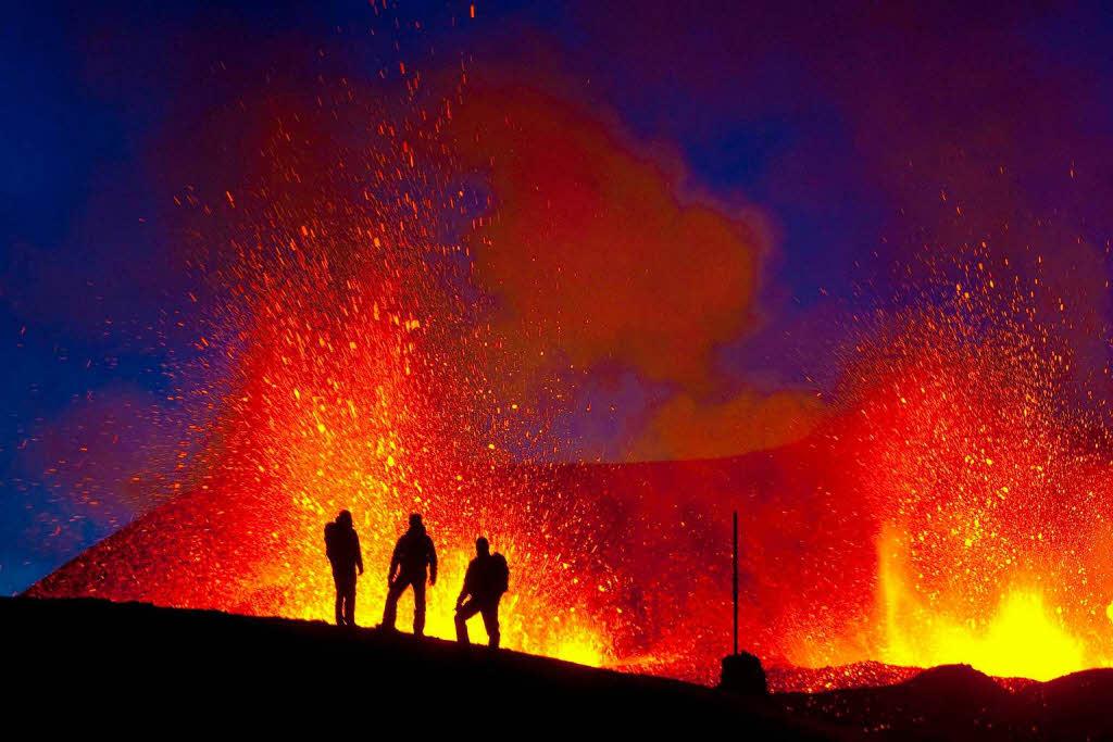Aktiver Vulkan beschert Island Touristenattraktion ...