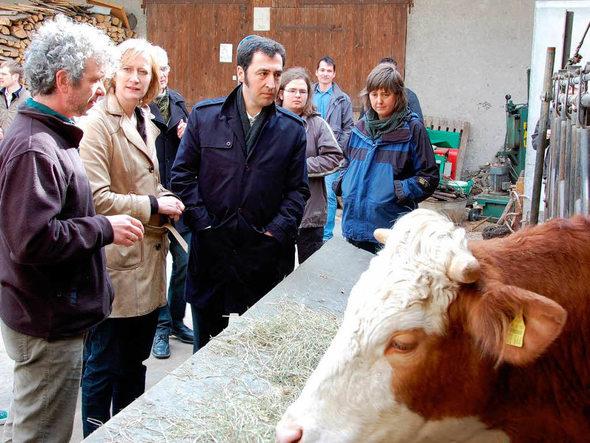 Cem Özdemir und Kerstin Andreae auf dem Wagnerhof in Breisach