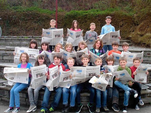 Die Klasse 4 der Heinrich-K�nig-Schule, M�hlenbach