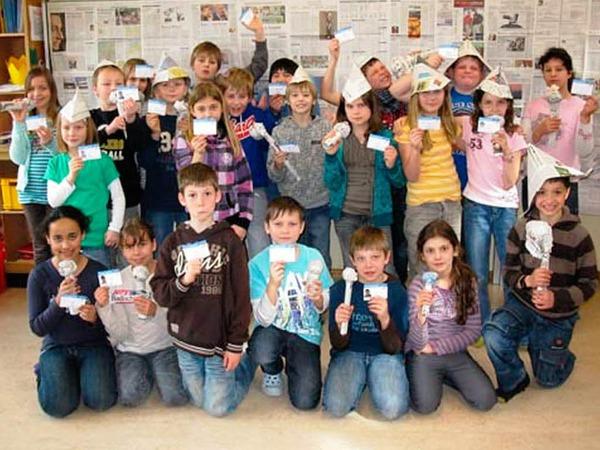 Die Klasse 4 der Grundschule Langenau