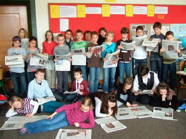 Die Klasse 4c der Grundschule Herbolzheim
