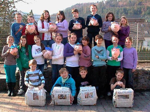 Die Klasse 4 der Grundschule Kuhbach