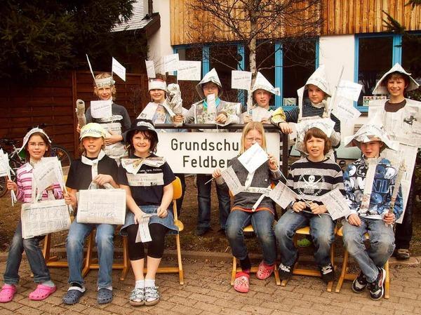 Die Klasse 4 der Grundschule Feldberg