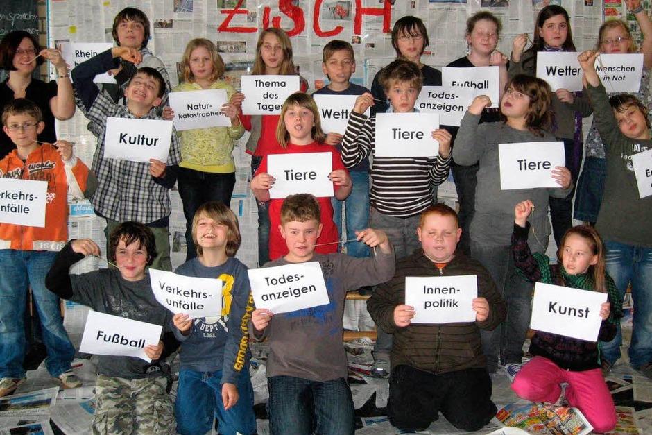 Die Klasse 4a der GHS Rheinhausen (Foto: privat)