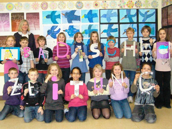 Die Klasse 4a der Grundschule Bad Bellingen