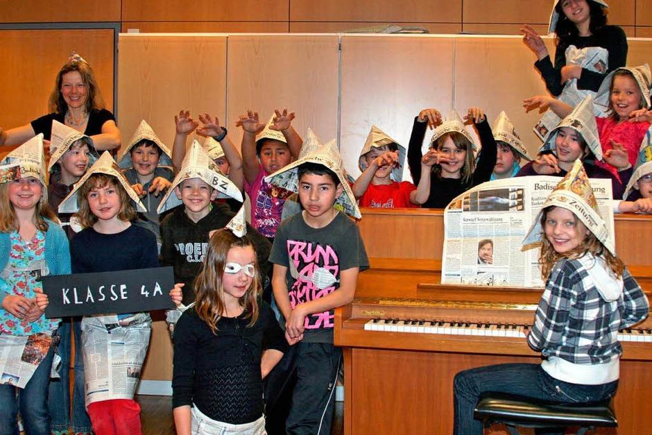 Die Klasse 4a des Schulzentrum Steinen (Foto: privat)