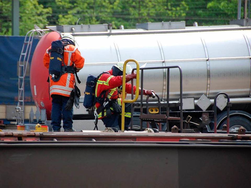 Einsätze auf dem Bahngelände sind  für... so manchen Unwägbarkeiten verbunden.     Foto: Frey