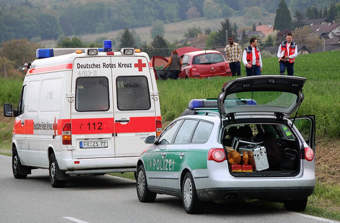Ausflug in den Acker: Mit dem Schrecke...von, die bei Wittlingen verunglückte.   | Foto: Markus Maier