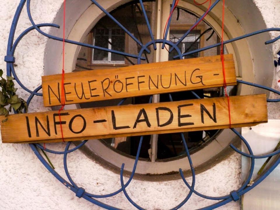 Der Info-Laden in der Gartenstraße.  | Foto: Joachim Röderer