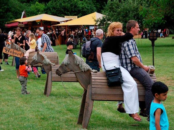 Eintauchen ins Mittelalter, dazu lud das Spektakulum am Wochenende im Weiler Dreiländergarten ein.