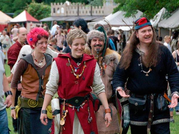 Eintauchen ins Mittelalter, dazu lud das Spektakulum am Wochenende im Weiler Dreil�ndergarten ein.