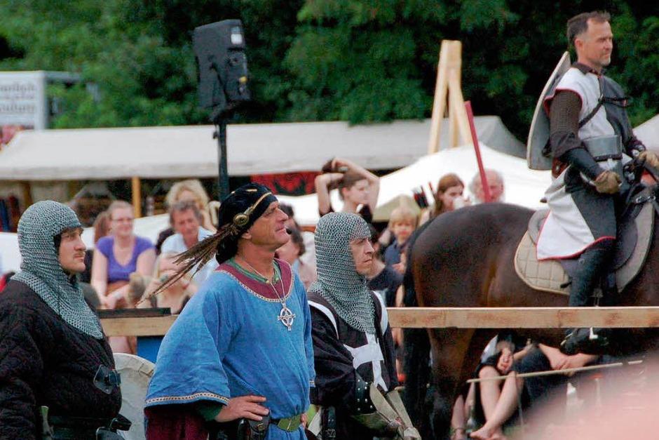Eintauchen ins Mittelalter, dazu lud das Spektakulum am Wochenende im Weiler Dreiländergarten ein. (Foto: senf)