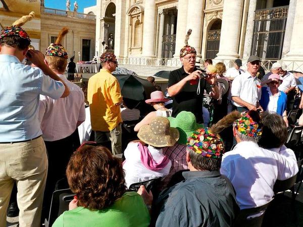 Bereits am Dienstag hatten die Fasnetrufer an der Generalaudienz des Papstes auf dem Petersplatz teilgenommen...