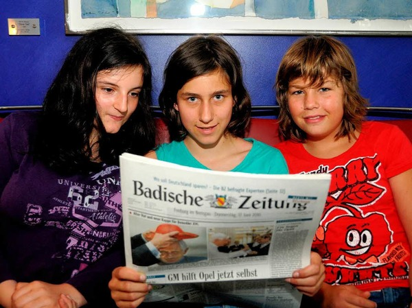 Was steht heute in der Badischen Zeitung? Und wie werden die Texte gedruckt?