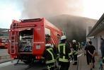 Fotos: Feuer im Recyclingzentrum in Steinen