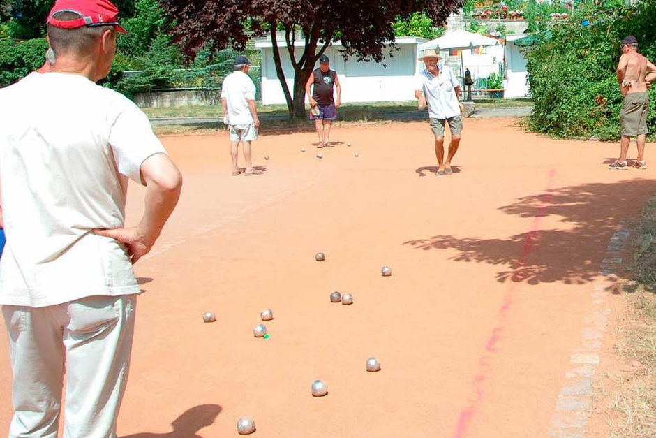 Auch ein Boule-Turnier gab es. (Foto: Kai Kricheldorff)