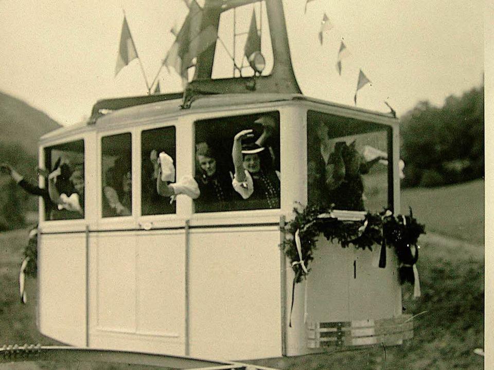 Die Eröffnung der Schauinslandbahn am 17. Juli 1930.  | Foto: Privat