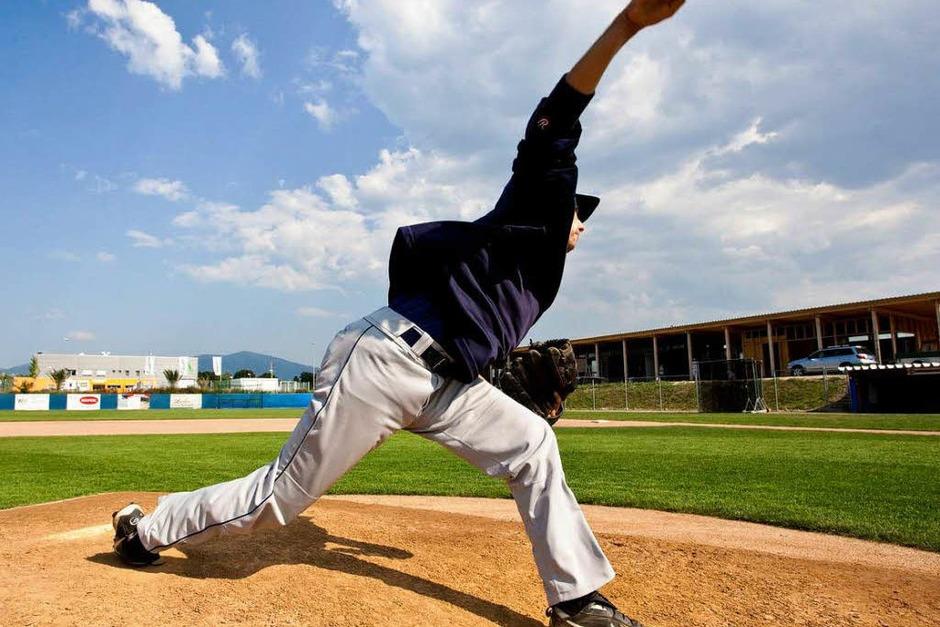In Neuenburg beginnt am Freitag die Baseball EM. Aber auch sonst wird am Rhein hochklassiges Baseball gespielt. (Foto: Dominic Rock)