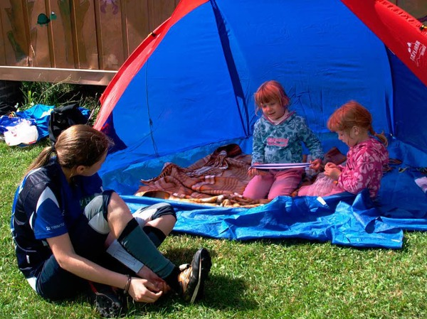 Gern wurden auch die Übernachtungsangebote genutzt -  und die ganze Familie war mit dabei.