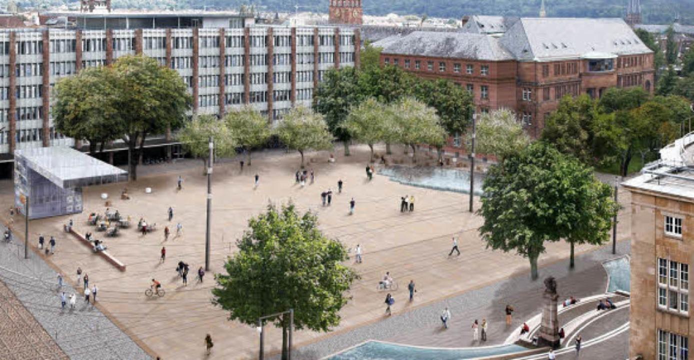 """Das geplante """"Platzhaus"""" (...ume erhalten und zusätzliche pflanzen.    Foto: visualisierung: www.gd90.de"""
