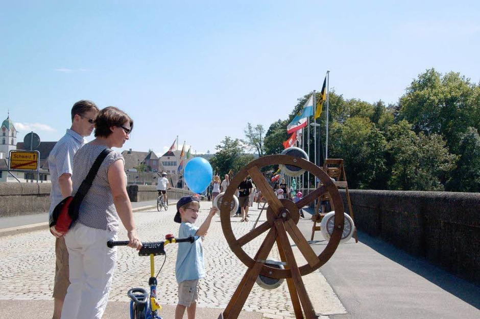 Impressionen von den Brückensensationen in Rheinfelden. (Foto: Ingrid Böhm-Jakob)